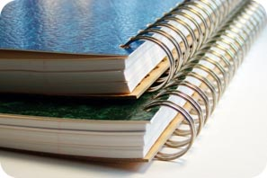 Image of two spiral bound notebooks.